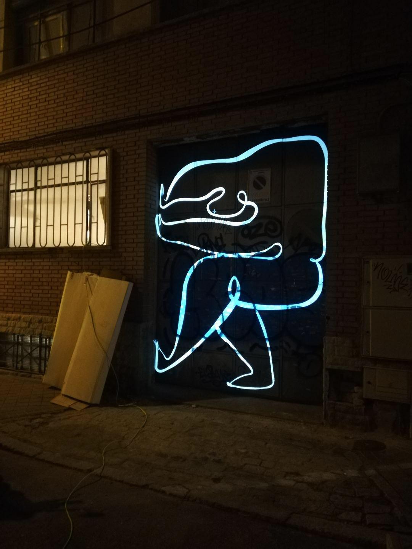 Andrea Santamarina Studio Álvaro Catalán de Ocón Madrid Design Festival Drawing Paint Installation Atlante 3