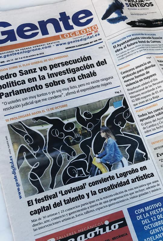 Andrea Santamarina Santamarina Stduio Lovisual Javier Peña Drawing Installation students playful process Logroño periódico La rioja corregido