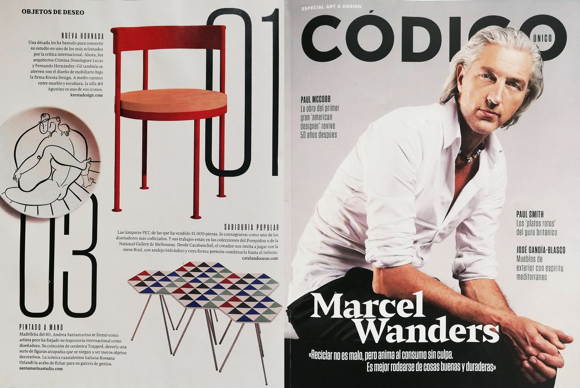 Andrea Santamarina Especial Arte Diseño Código Único ABC