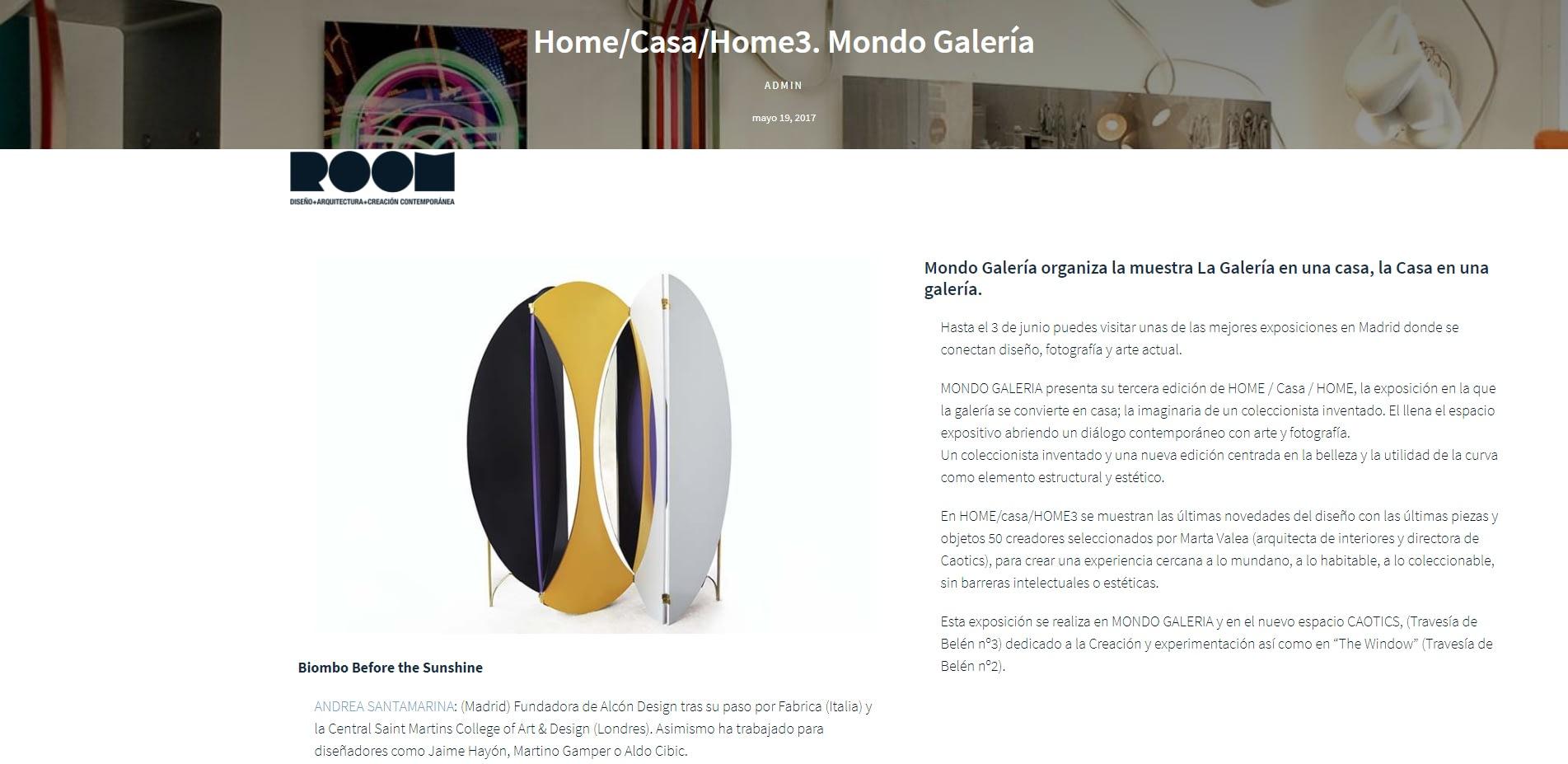 Andrea Santamarina Press web room