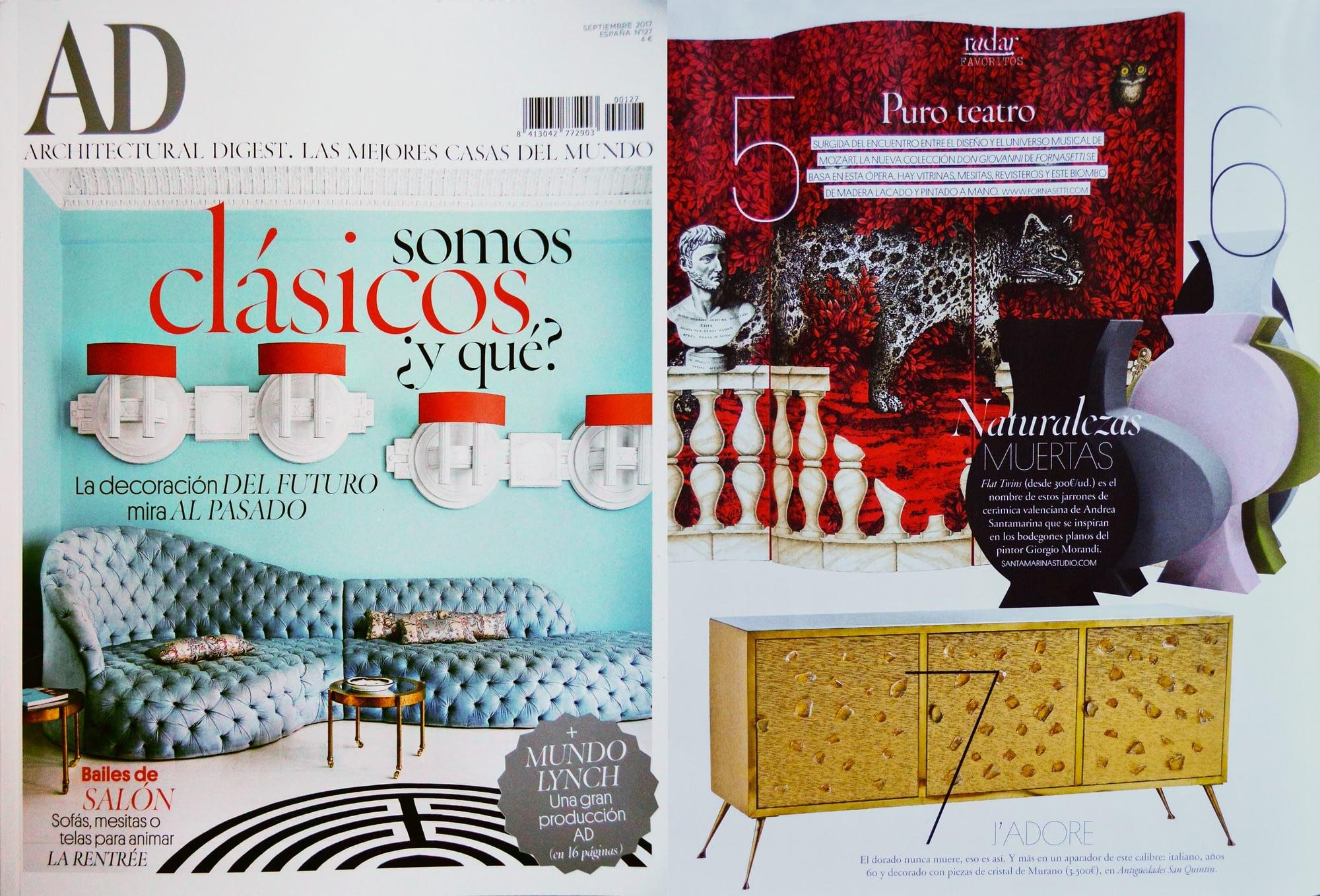 Andrea Santamarina Studio Revista AD Naturalezas Muertas Flat twins Producto Fresco Cerámica Valencia Morandi Vases Ceramic IED corregido